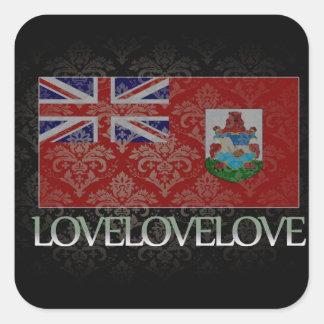 I love Bermuda Cool Square Sticker