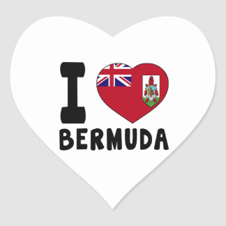 I Love BERMUDA Heart Sticker