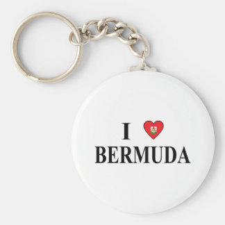 I Love Bermuda Key Ring