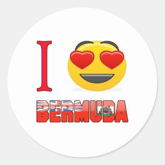 I love BERMUDA. Round Sticker