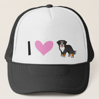 I Love Bernese Mountain Dogs Cap
