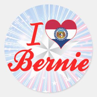 I Love Bernie, Missouri Round Stickers