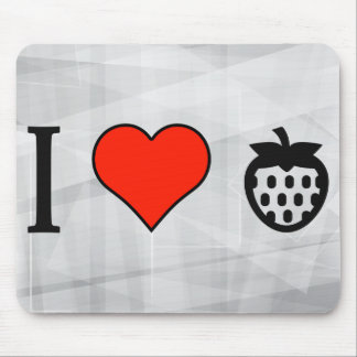 I Love Berries Mouse Pad