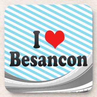 I Love Besancon, France Beverage Coasters