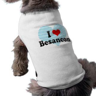 I Love Besancon France Dog Tee