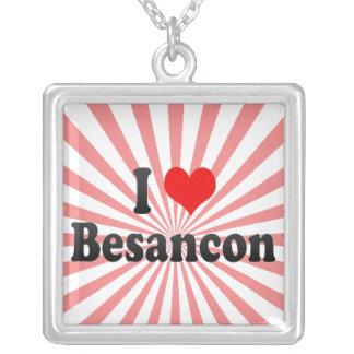 I Love Besancon France Personalized Necklace