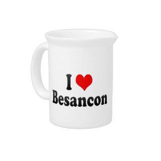 I Love Besancon France Drink Pitcher