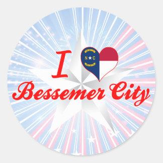 I Love Bessemer City, North Carolina Sticker