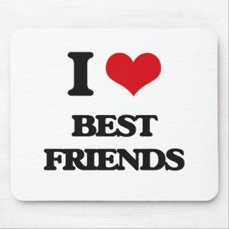 I Love Best Friends Mousepads