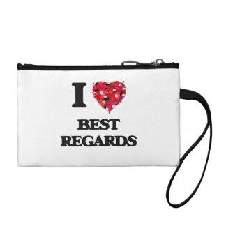 I Love Best Regards Change Purse