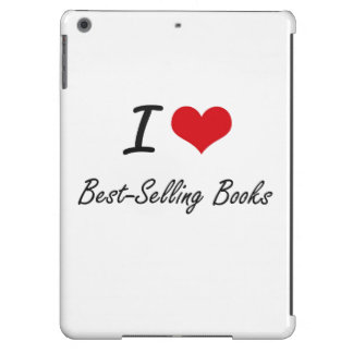 I Love Best-Selling Books Artistic Design Cover For iPad Air