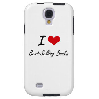 I Love Best-Selling Books Artistic Design Galaxy S4 Case
