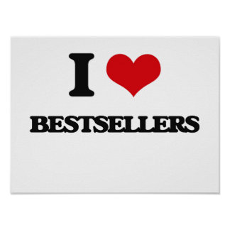 I Love Bestsellers Posters