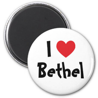 I Love Bethel 6 Cm Round Magnet