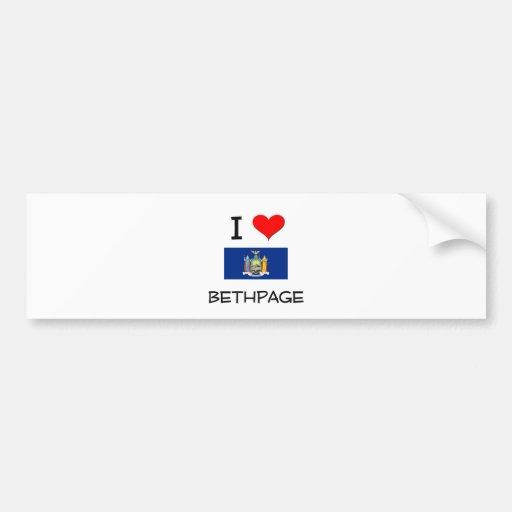 I Love Bethpage New York Bumper Stickers