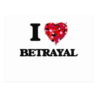 I Love Betrayal Postcard