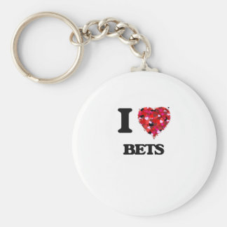 I Love Bets Basic Round Button Key Ring