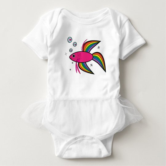 I Love Betta Fish! Baby Bodysuit