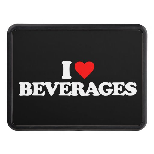 I LOVE BEVERAGES TOW HITCH COVER