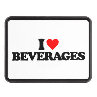 I LOVE BEVERAGES TRAILER HITCH COVER