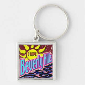 """I LOVE Beverly Hills"" Night Sunshine"" Keychain!"