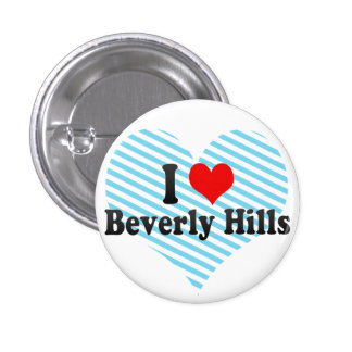 I Love Beverly Hills, United States 3 Cm Round Badge
