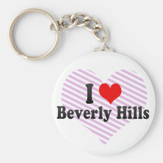 I Love Beverly Hills, United States Basic Round Button Key Ring