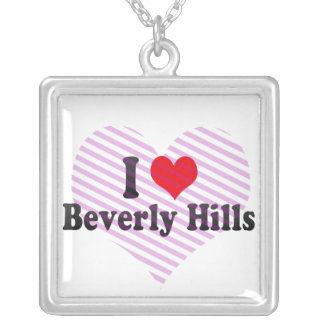 I Love Beverly Hills, United States Square Pendant Necklace