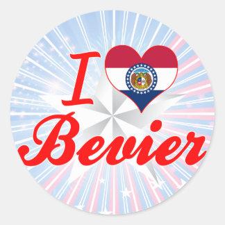 I Love Bevier, Missouri Round Stickers
