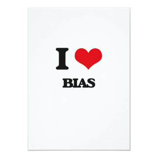 "I Love Bias 5"" X 7"" Invitation Card"