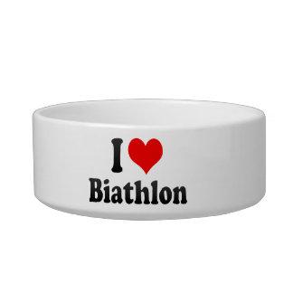 I love Biathlon Pet Water Bowl