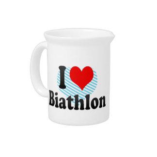 I love Biathlon Drink Pitcher