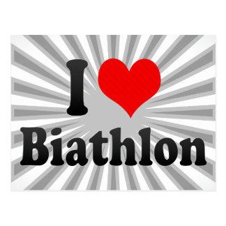I love Biathlon Postcard
