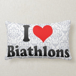 I love Biathlons Throw Pillow