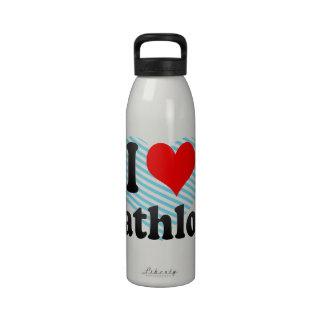 I love Biathlons Water Bottles