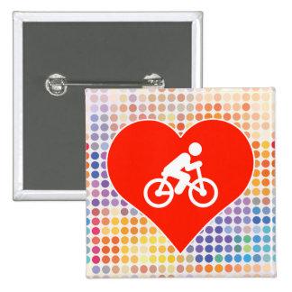 I Love Bicycle 15 Cm Square Badge