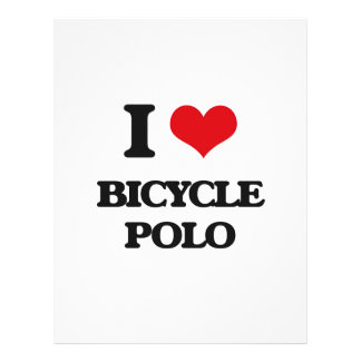 I Love Bicycle Polo Personalized Flyer