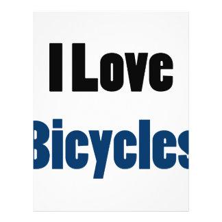 I Love Bicycles Custom Flyer
