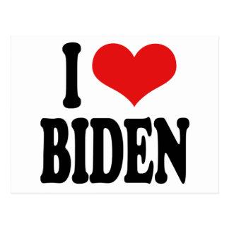 I Love Biden Post Card