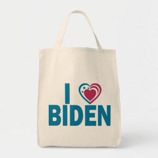 I Love Biden Grocery Tote Bag