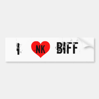 I LOVE BIFF BUMPER STICKER