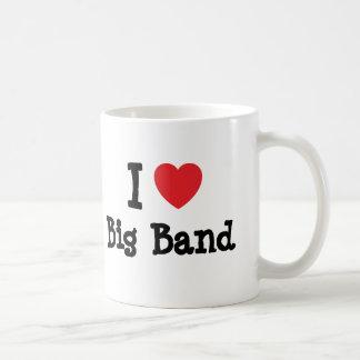 I love Big Band heart custom personalized Coffee Mugs