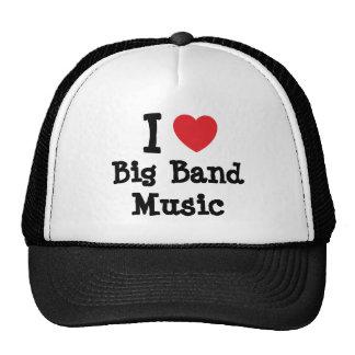 I love Big Band Music heart custom personalized Mesh Hat