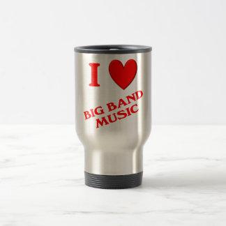 I Love Big Band Music Mugs