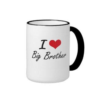 I Love Big Brother Artistic Design Ringer Mug