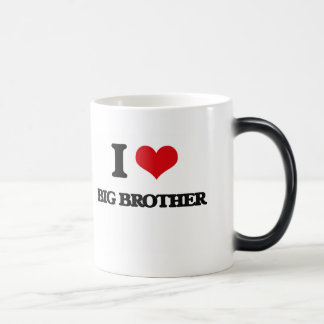 I Love Big Brother 11 Oz Magic Heat Color-Changing Coffee Mug