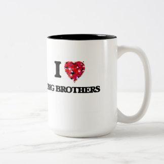 I Love Big Brothers Two-Tone Mug