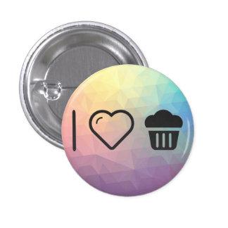 I Love Big Cupcakes 3 Cm Round Badge