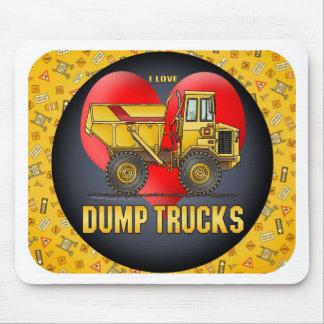 I Love  Big Dump Trucks Mouse Pad