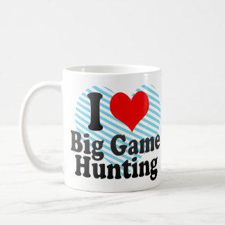I love Big Game Hunting Basic White Mug